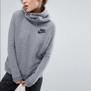 Nike Women's Light Gray Hoodie Size XS